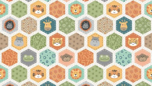 Jungle Hexagons Cream
